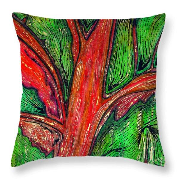 Organic Throw Pillow by Carla Sa Fernandes