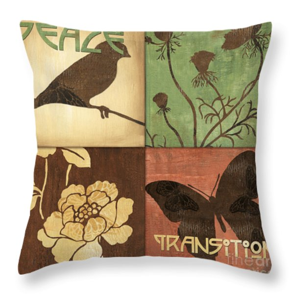 Organic Nature 1 Throw Pillow by Debbie DeWitt