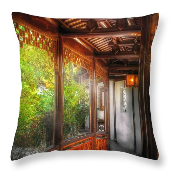 Orient - Continue On Throw Pillow by Mike Savad