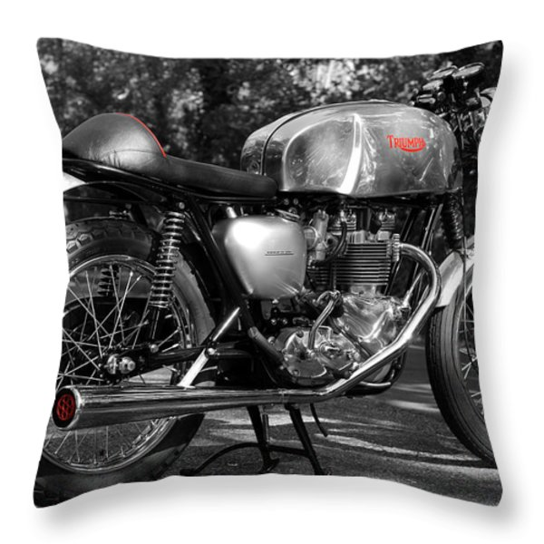 Original Cafe Racer Throw Pillow by Mark Rogan