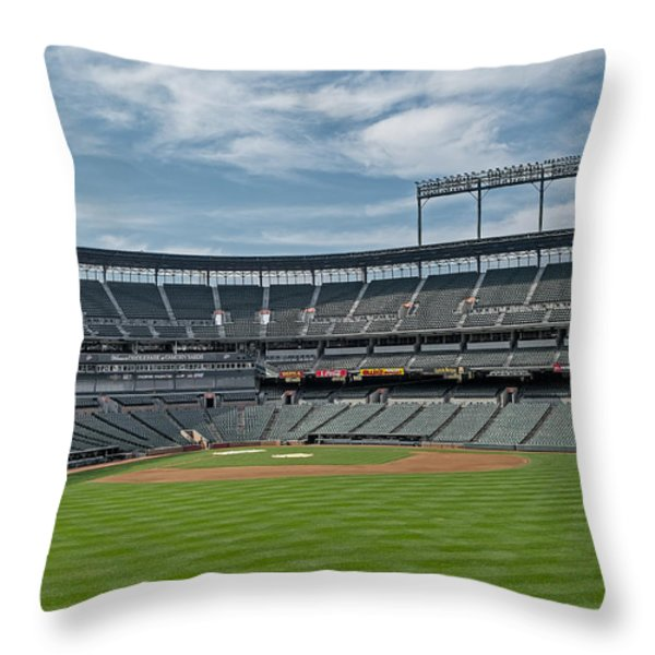 Oriole Park at Camden Yards Stadium Throw Pillow by Susan Candelario