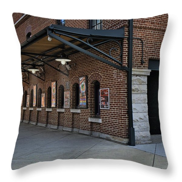 Oriole Park Box Office Throw Pillow by Susan Candelario