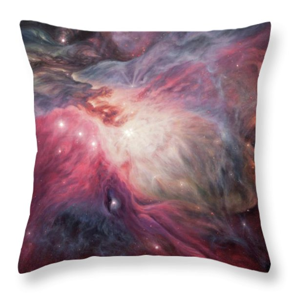 Orion Nebula M42 Throw Pillow by Lucy West