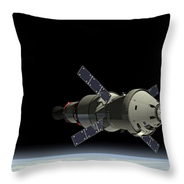 Orion Service Module Throw Pillow by Movie Poster Prints