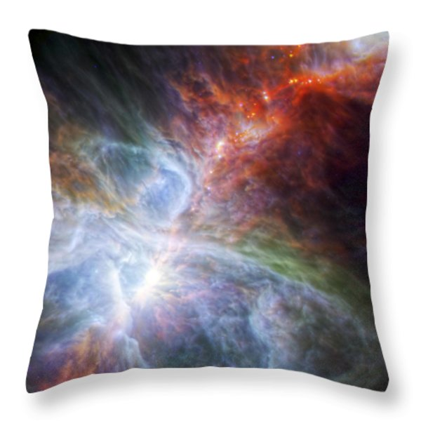 Orion's Rainbow Of Infrared Light Throw Pillow by Adam Romanowicz