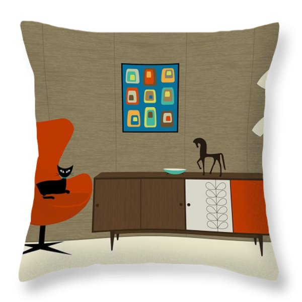 Orla Kiely Cabinet Throw Pillow by Donna Mibus