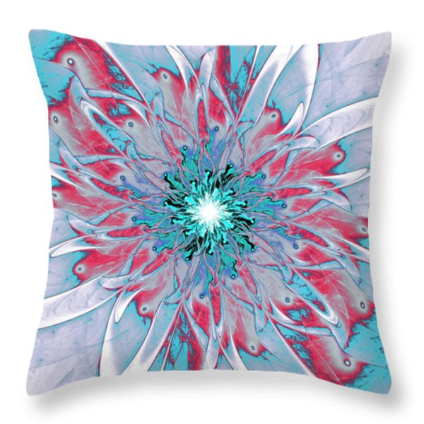 Ornate Throw Pillow by Anastasiya Malakhova
