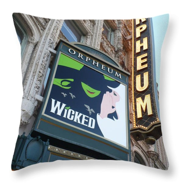 Orpheum Sign Throw Pillow by Carol Groenen