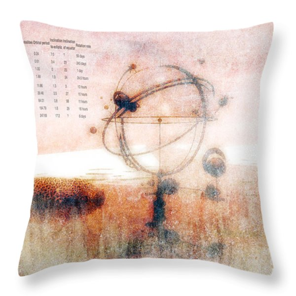 Orrery Throw Pillow by Bob Orsillo