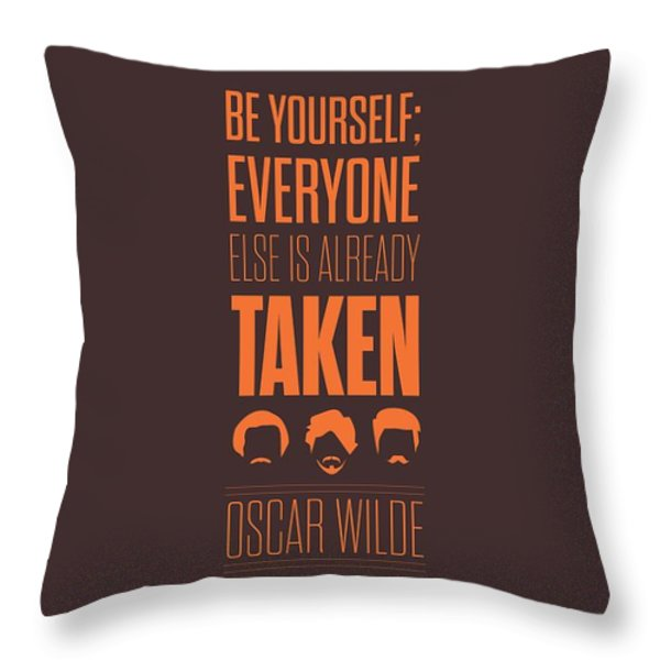 Oscar Wilde Quote Typographic Art Print Throw Pillow by Lab No 4 - The Quotography Department