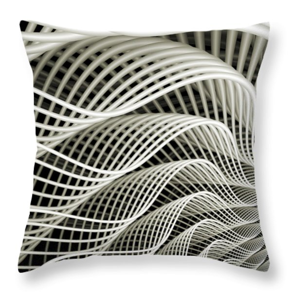 Oscillation Throw Pillow by Kevin Trow