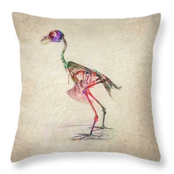 Osteology of birds Throw Pillow by Aged Pixel