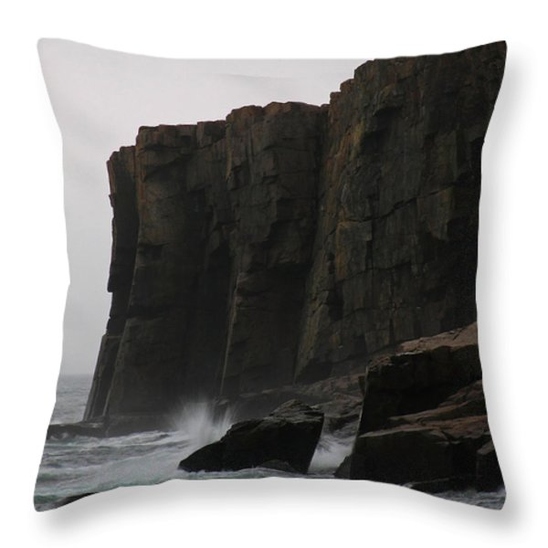 Otter Cliff Throw Pillow by Juergen Roth