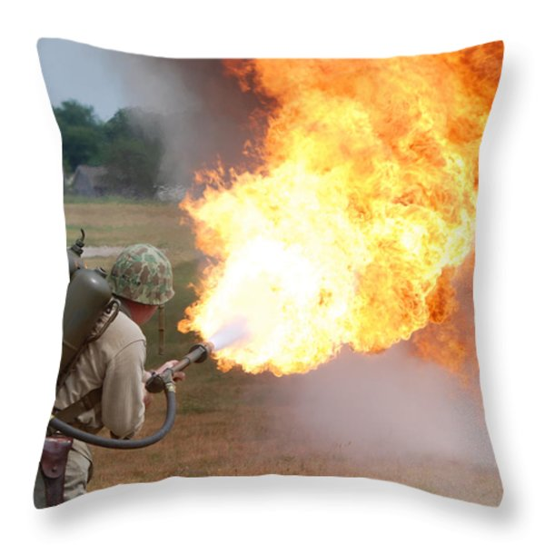Ouch Throw Pillow by Thomas Woolworth