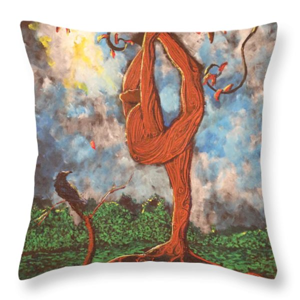 Our Dance With Nature Throw Pillow by Stefan Duncan
