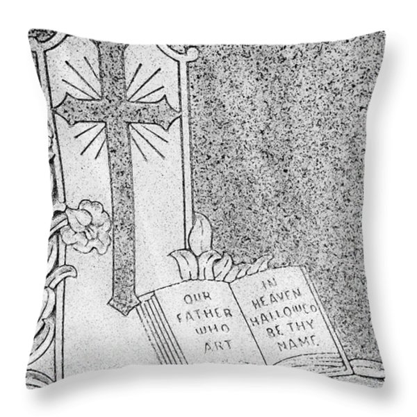 Our Father Who Art in Heaven Throw Pillow by Crystal Wightman