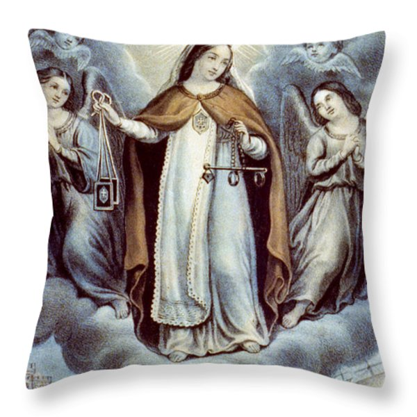 Our Lady Of Mercy Circa 1856  Throw Pillow by Aged Pixel
