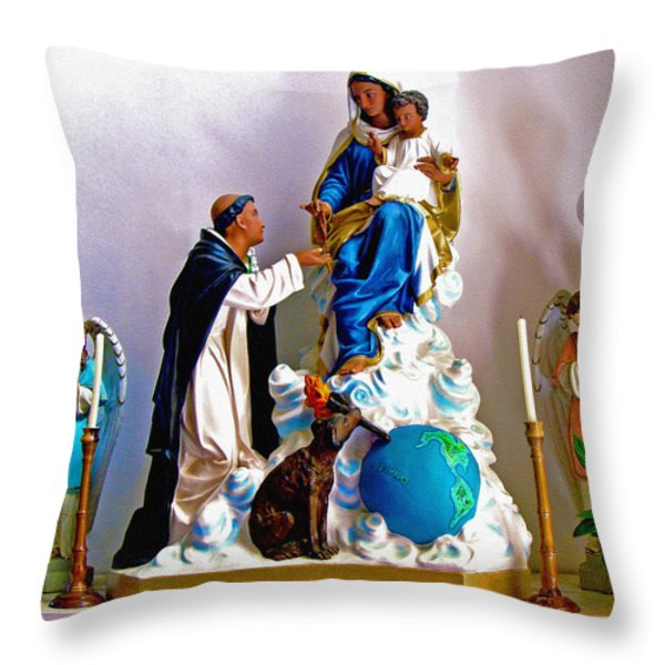 Our Lady of Peace Throw Pillow by Karon Melillo DeVega