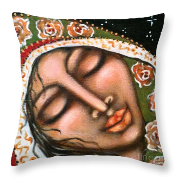 Our Lady Of Peace Throw Pillow by Maya Telford