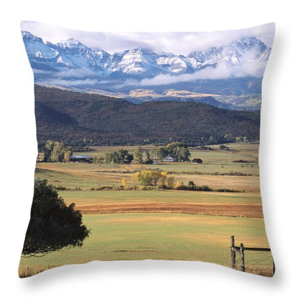 Ouray County Throw Pillow by Eric Glaser