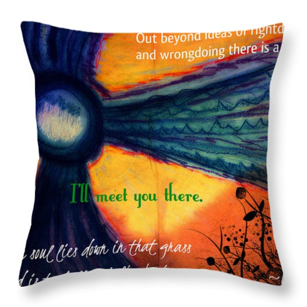 Out Beyond Ideas Throw Pillow by Catherine McCoy