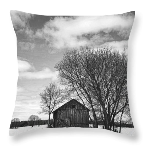 Out In The Sticks Throw Pillow by Thomas Young