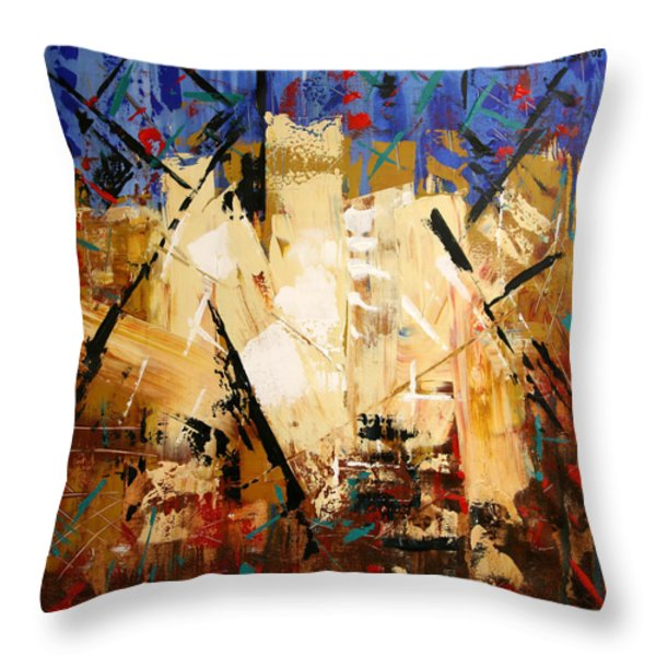 Out Of Darkness Throw Pillow by Anthony Falbo