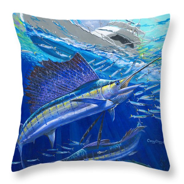 Out Of Sight Throw Pillow by Carey Chen
