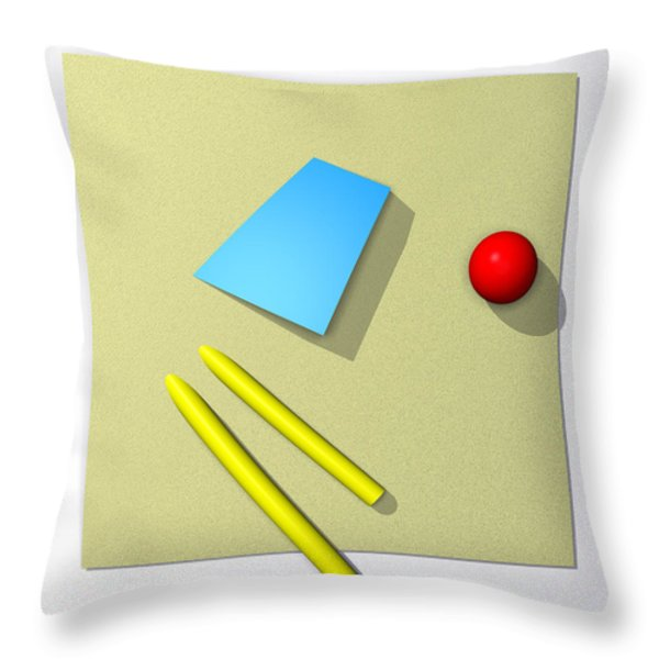Out Of Square Throw Pillow by Richard Rizzo