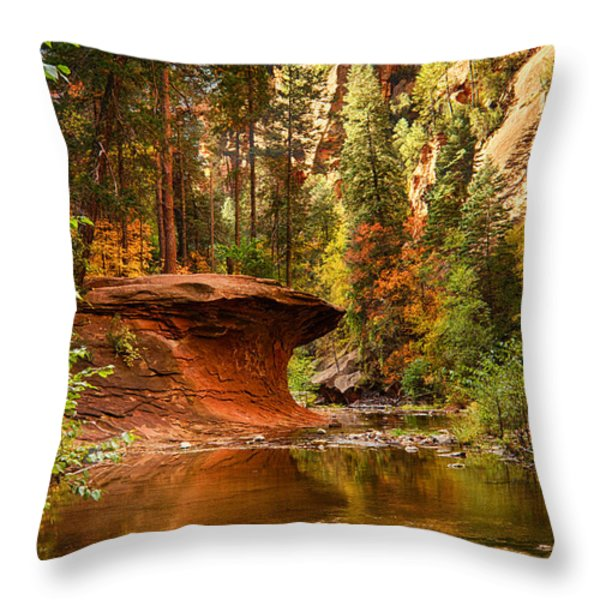 Out on a Ledge  Throw Pillow by Saija  Lehtonen