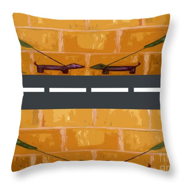 Out On The Street Throw Pillow by Patrick J Murphy