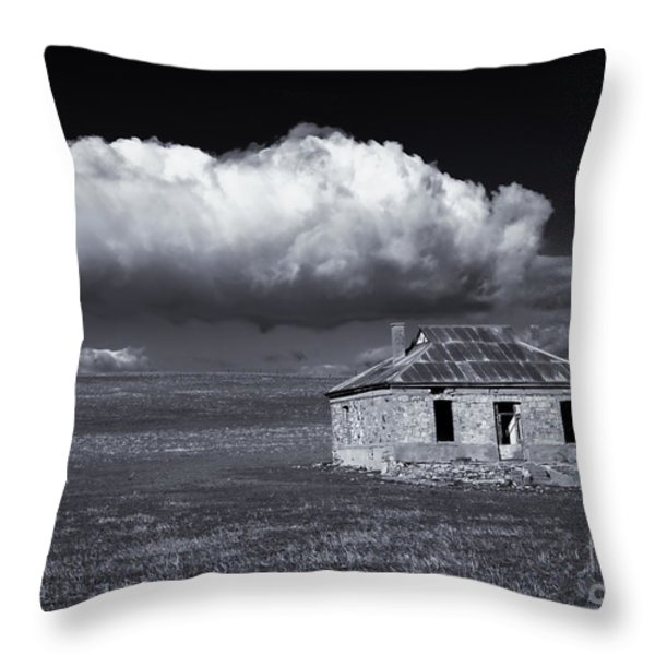 Outback Ruin Throw Pillow by Mike  Dawson