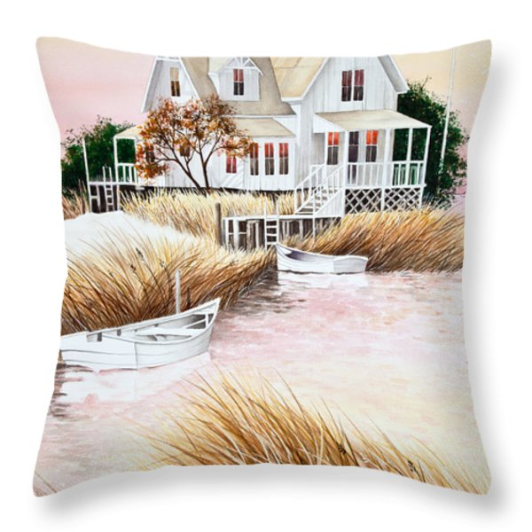 Outer Banks Summer Morning Throw Pillow by Michelle Wiarda