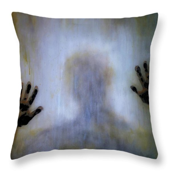 Outsider Throw Pillow by Lilia D