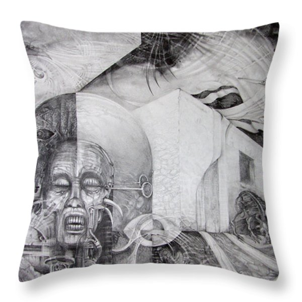 Outskirts Of Necropolis Throw Pillow by Otto Rapp