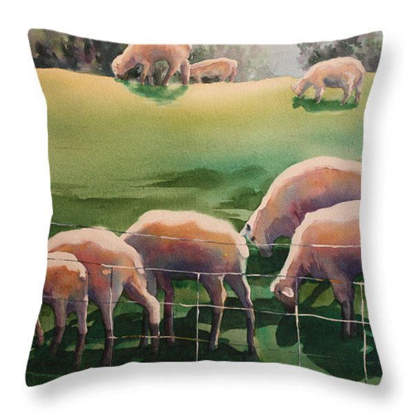 Over The Hill Throw Pillow by Roxanne Tobaison