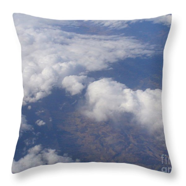 Over The Mountains Throw Pillow by Lingfai Leung
