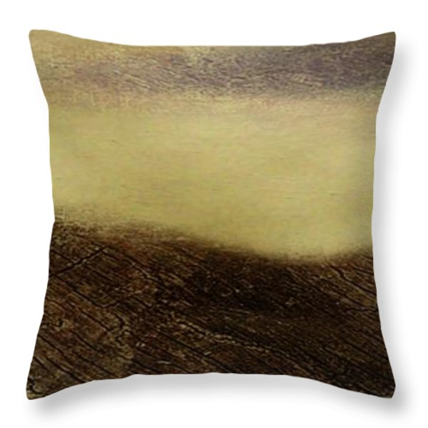Over The Ridge Throw Pillow by Gina Lee Manley