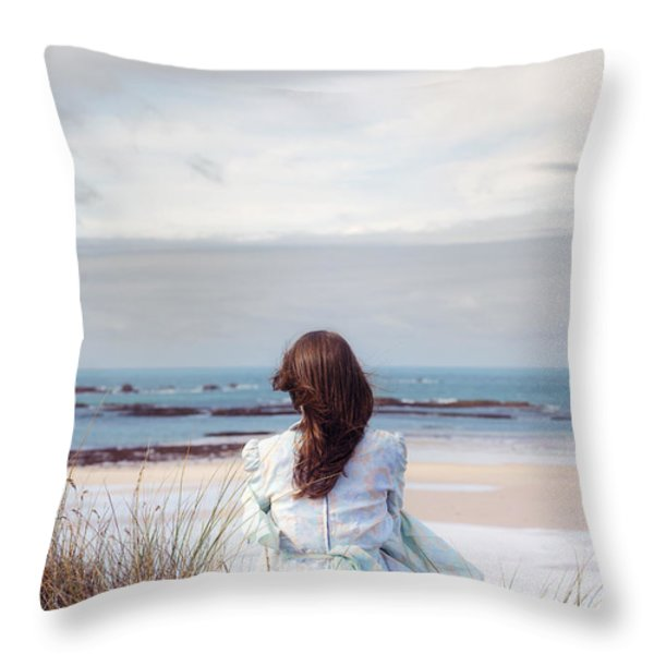 overlooking the sea Throw Pillow by Joana Kruse
