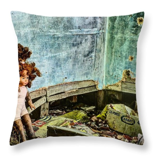 Overwhelmed  Throw Pillow by JC Findley