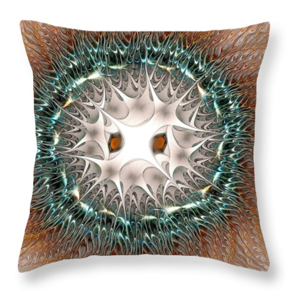 Owl Spirit Throw Pillow by Anastasiya Malakhova