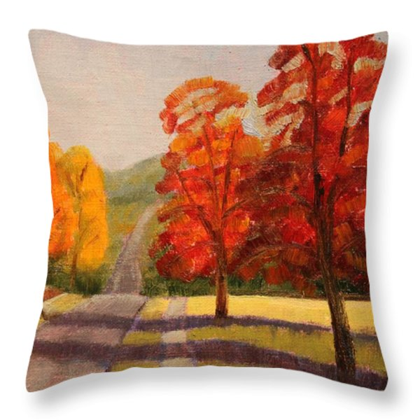 Ozarks October Throw Pillow by Ruth Soller