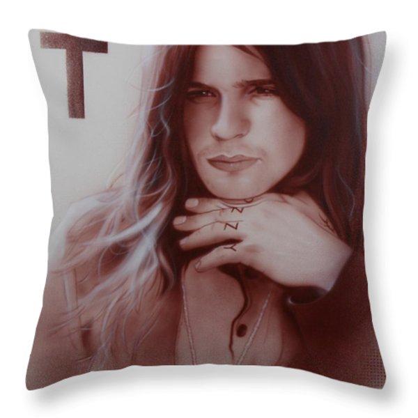 'Ozzy Osbourne' Throw Pillow by Christian Chapman Art