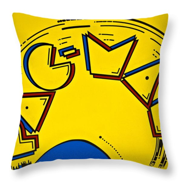 Pac-Man Throw Pillow by Frozen in Time Fine Art Photography