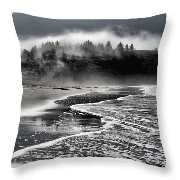 Pacific Island Fog Throw Pillow by Adam Jewell