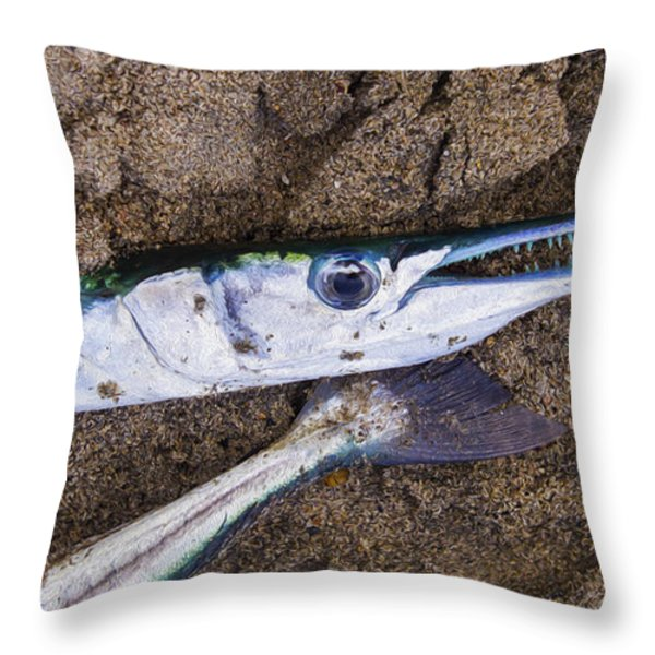 Pacific Needlefish Throw Pillow by Aged Pixel