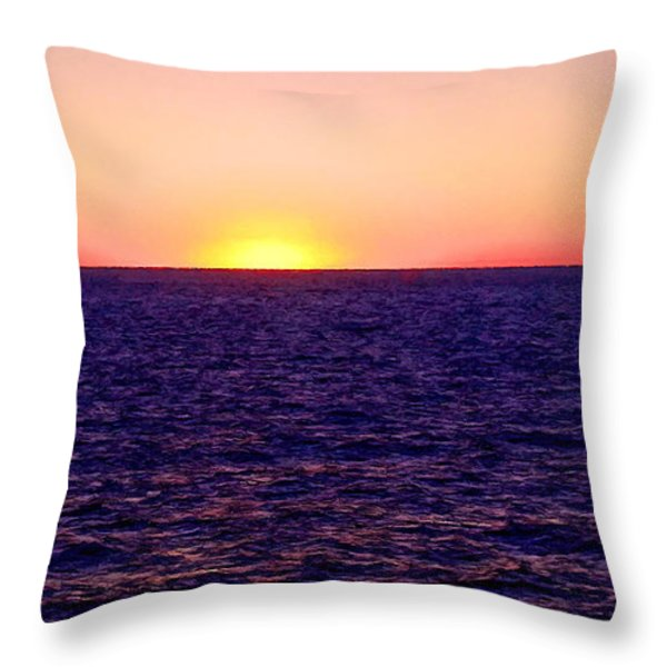 Pacific Sunset Off Laguna Beach Throw Pillow by Bob and Nadine Johnston