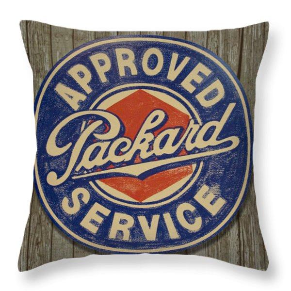 Packard Sign Throw Pillow by Bill Jonas