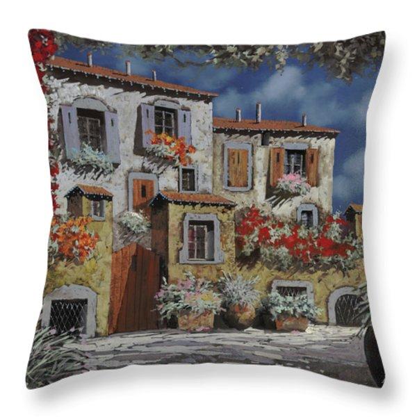 Paesaggio Al Chiar Di Luna Throw Pillow by Guido Borelli
