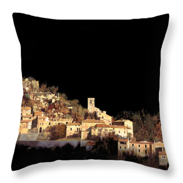 paesaggio scuro Throw Pillow by Guido Borelli